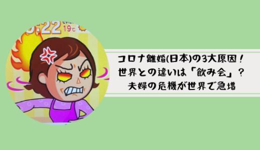 コロナ離婚(日本)の3大原因!世界との違いは「飲み会」?夫婦の危機が世界で急増