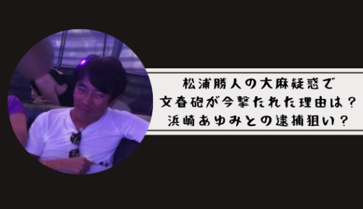 松浦勝人 大麻疑惑で文春砲が今撃たれた理由は?浜崎あゆみとの逮捕狙い?