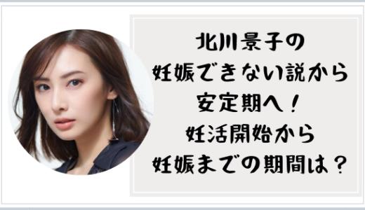 北川景子の妊活開始から妊娠までの期間は?不妊説から一児のママに!