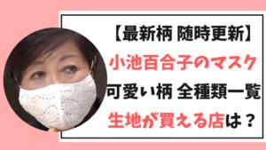 【最新】小池百合子のマスク全柄/生地が買える店まとめ!
