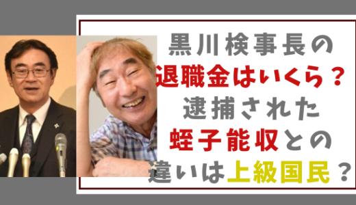 文春砲!黒川検事長の退職金はいくら?逮捕された蛭子能収との違いは?